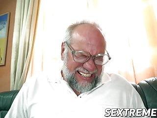 Luscious Miranda Miller blows and rides older cock