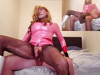 Preview 4 of no.38 Twice The Price - big cock sissy slut Suleika Latex