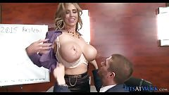 Massive MILF Tits in the Conference Room