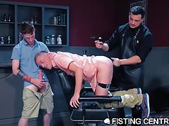 Skinny Bottoms Deeply Fisted by Leather Daddy
