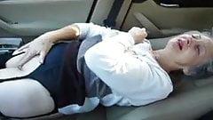 granny in the car