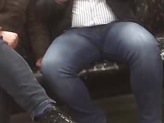 Guy showing off his big thick legs
