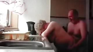 Grandma and Grandpa in Kitchen