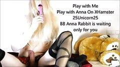 Teen Tranny Anna Rabbit is so horny