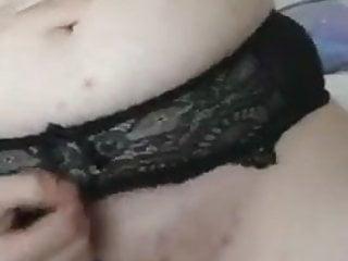 Amelia Masturbating Through Panties