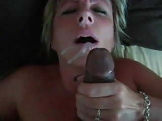 Mature white wife loves her black lover's cum