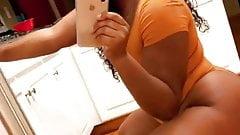 back girl doing cute selfies 2's Thumb
