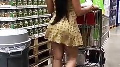 Hot latina with ass in hardware store spy