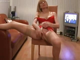 Pretty Mature Blond Vibrating Her Clit to Orgasm