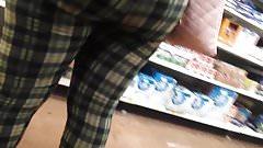 CANDID EBONY IN TIGHT CAMO PANTS