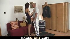 Cheating bitch gets drilled deep, rough and hard