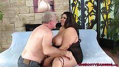 BBW Bella Bangz takes anal ride with sweet facial finish