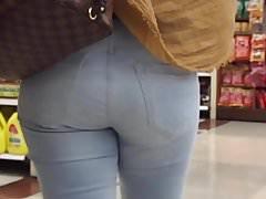 Light Jeans Tight Ass Sista