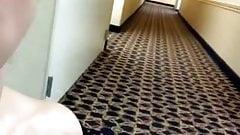 wifethatrocks naked in hotel hallway
