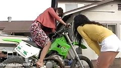 Chicks Cranking Motorcycle HD