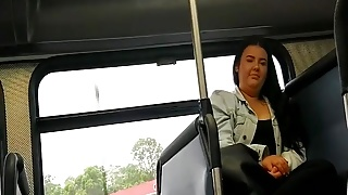 Woman takes a glance (or two) at bulge