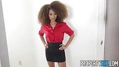PropertySex - Sexy tiny agent fucks handyman's big cock