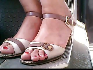 Candid Moldavian Mature Feet In Bus Closeup    Hd