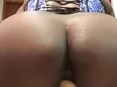 ebony dildo ride