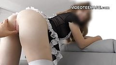 french maid teens do porn casting
