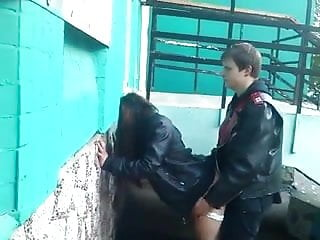 Real amateur fucking in the street