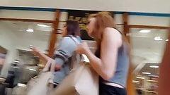 Teen short skirt ass to cst mall