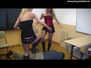 2 Highschool Girls in Boots - Femdom Domination in School