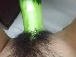 Horney Chinese Student Shape Cucumber As Cock And Fuck Herse