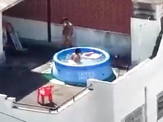 neighbors caught fucking on the rooftop