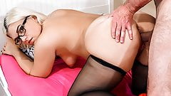 HITZEFREI Thick German blonde Mariella Sun fucks an older ma's Thumb
