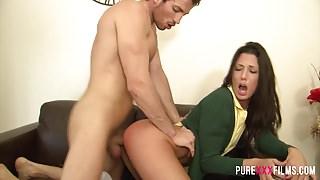 PURE XXX FILMS Spanish Schoolgirl gets spanked