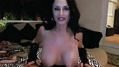 Sexy granny toying