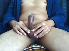 Playing  my Cock in the Morning