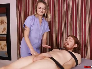 Teen Blonde Strokes While Touching Her Clit