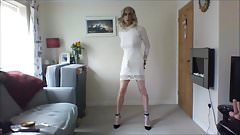 I love my new white minidress