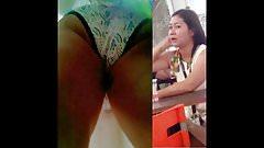 Boso Upskirt Malupit na Panty Ni Mommy (Faceshot)