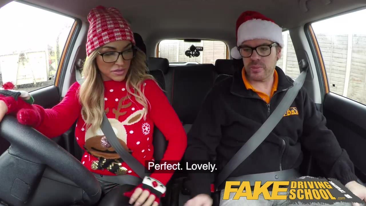 image Fake driving school instructor gets titty wank from big tits