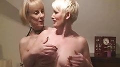 Stocking Milfs Hazel And Sally Together