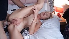 Flat titted skinny mature needs 2 cocks for ultimate fun