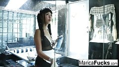 Japanese Maid gets horny cleaning up the bathroom
