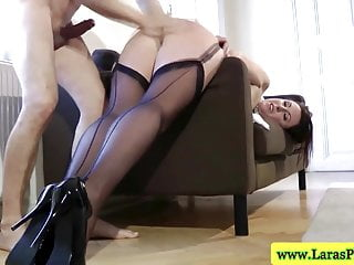 Mature milf on side getting plowed