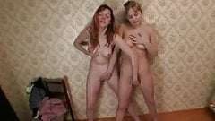 Young Russian girls playing together