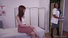 Pervy MILF Nurse performs a rectal exam