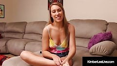 Horny Young Kimber Lee Sits Her Naked Butt On Her Hot Feet!