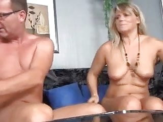 Fat mature gives a BJ and fucks with her man
