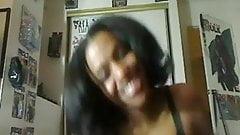 Ebony slut rides big cock expertly