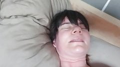 Wife sex from behind using ohmibod and hitachi pt2