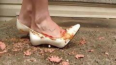 Penny hotdog in shoe crush
