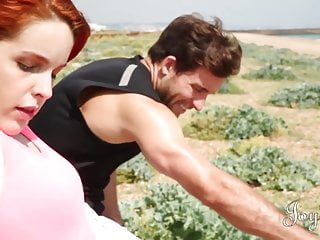Large naturals tits - Joybear sensual natural redhead babe takes it in large