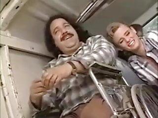 Vintage funny horror movie parody with dildo